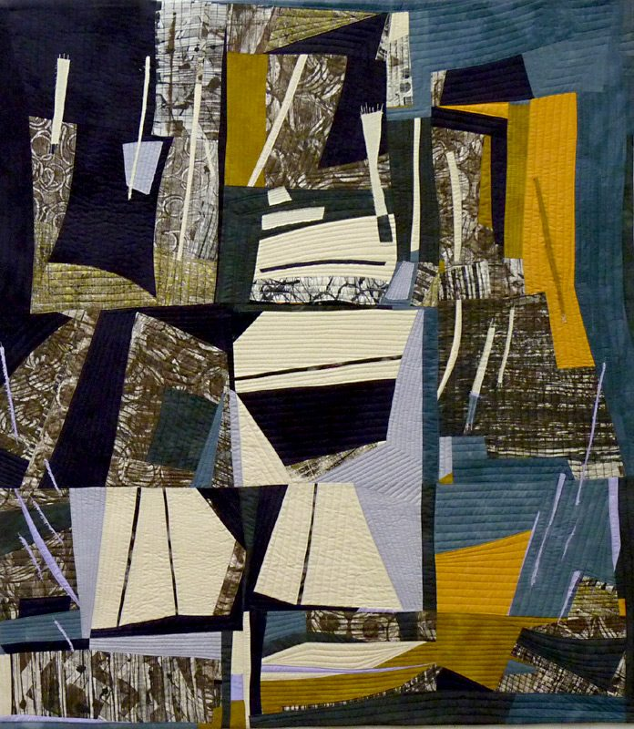 Regatta - art quilt by Rosemary Hoffenberg